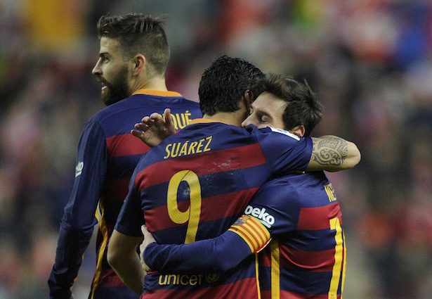 Football Soccer - Sporting v Barcelona Spanish Liga BBVA