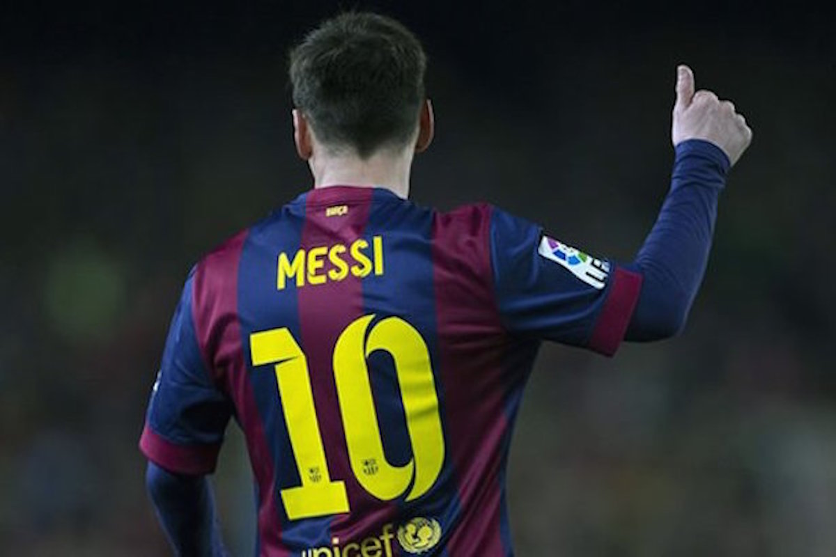 Messi recibe a su cliente