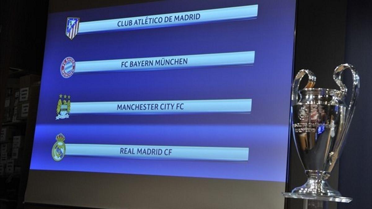 """Manchester City – Real Madrid y Atlético – Bayern son las """"semis"""" de Champions League"""