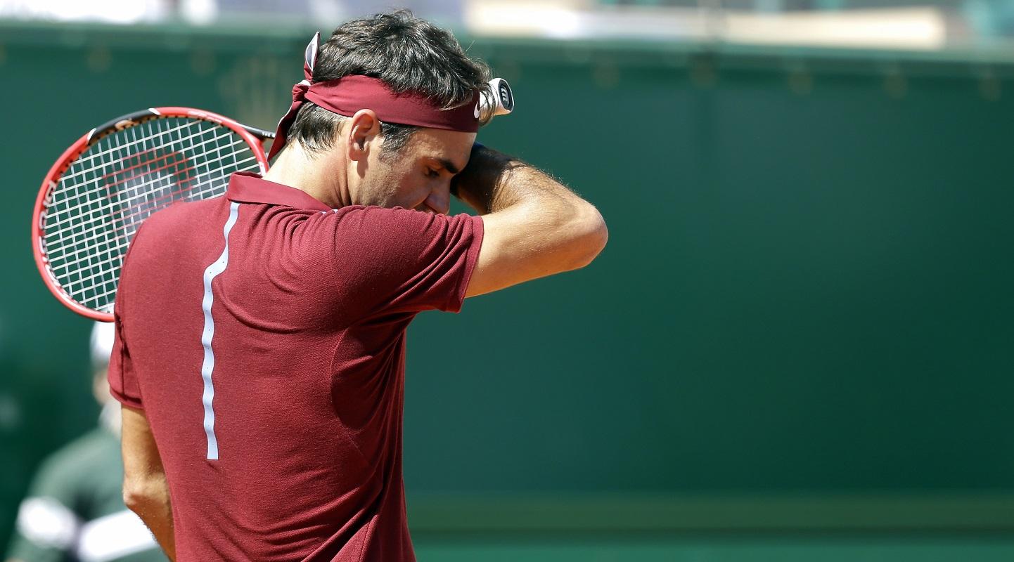 Federer Cae en Montecarlo