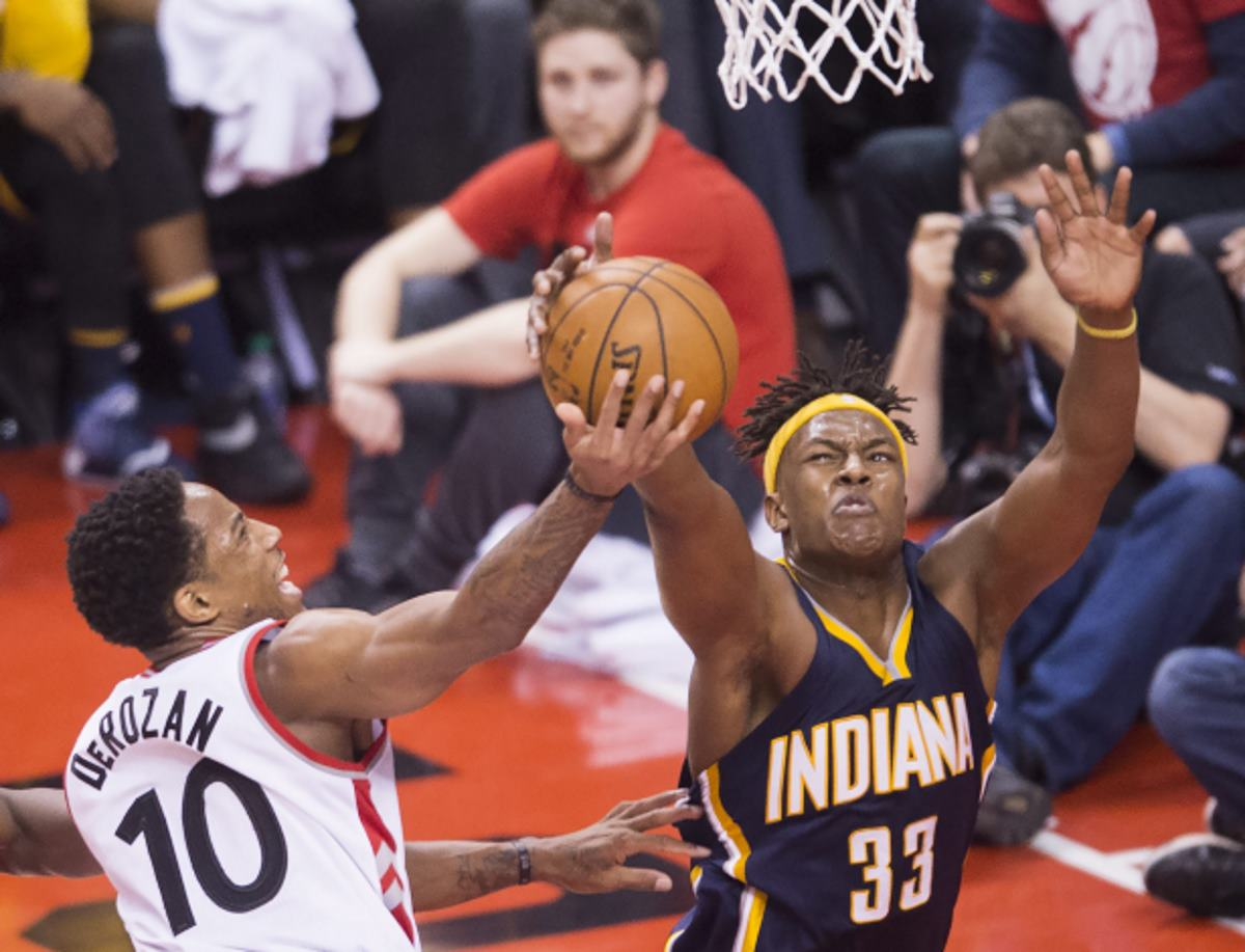 Pacers vence 100-90 a Raptors en los Playoffs