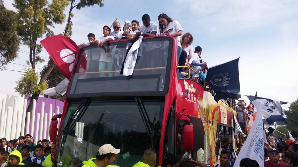 Foto: Sergio Juárez / Pachuca celebra a sus campeones.
