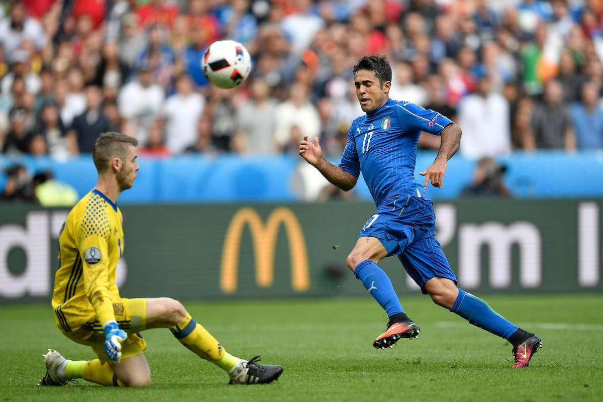 Italia venció 2- a España y avanza a cuartos de la Euro. Foto: AP