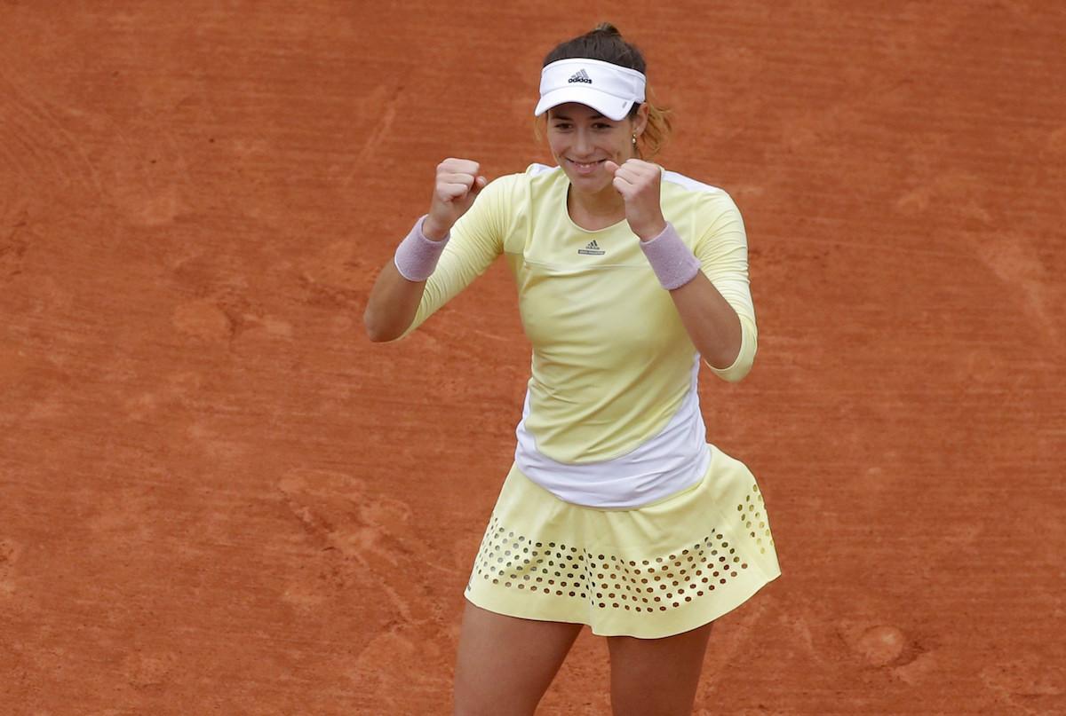 Garbiñe Muguruza, finalista del Roland Garros. Foto: Reuters