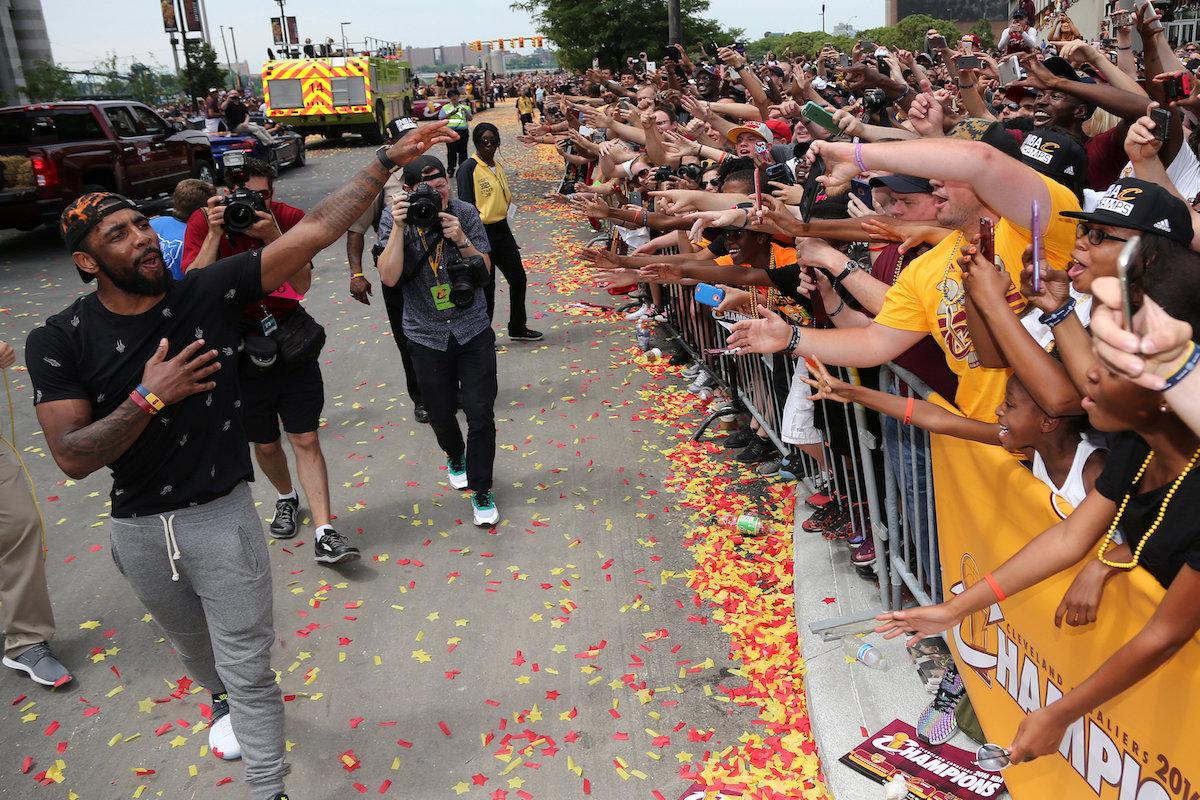Los 'Cavs' conviven con sus aficionados. Fotos: Reuters