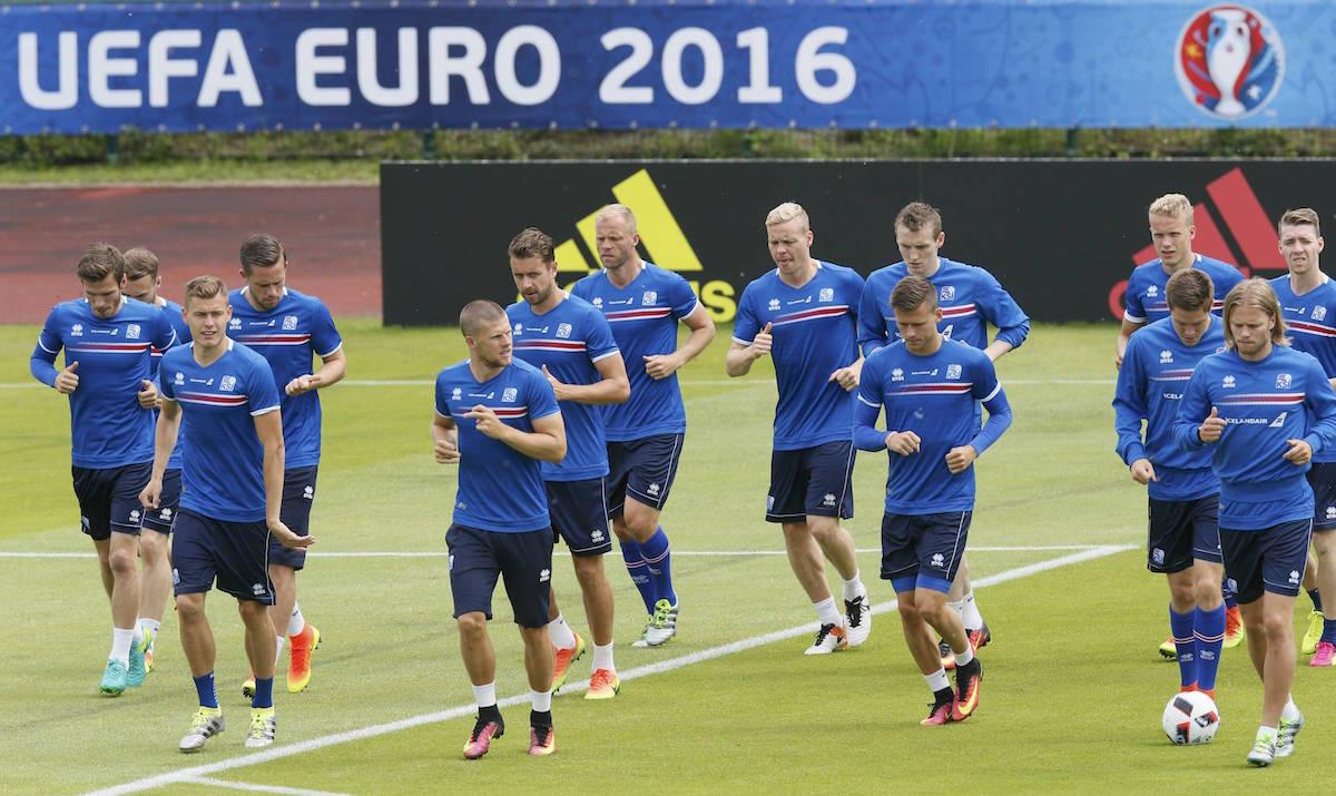 Entrenamiento de Islandia. Foto: Reuters