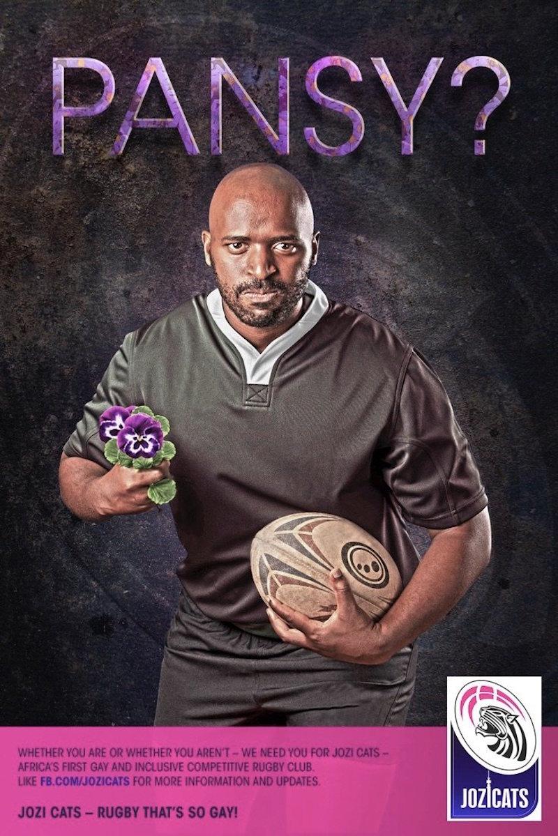Campaña de los Jozi Cats contra la exclusión a los gays en el rugby. Foto: Especial