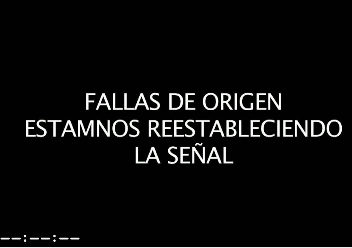 Pantalla de Chivas TV tras colapsar el sitio. Foto: Especial