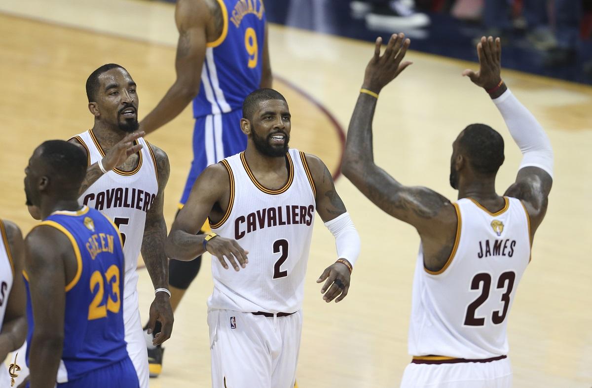 Los Cavaliers festejan el triunfo. Foto: AP