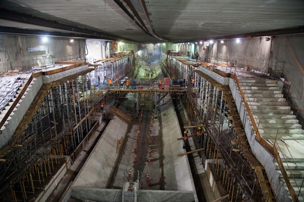 Construcción de la línea 4 del metro de Río de Janeiro. Foto: Especial