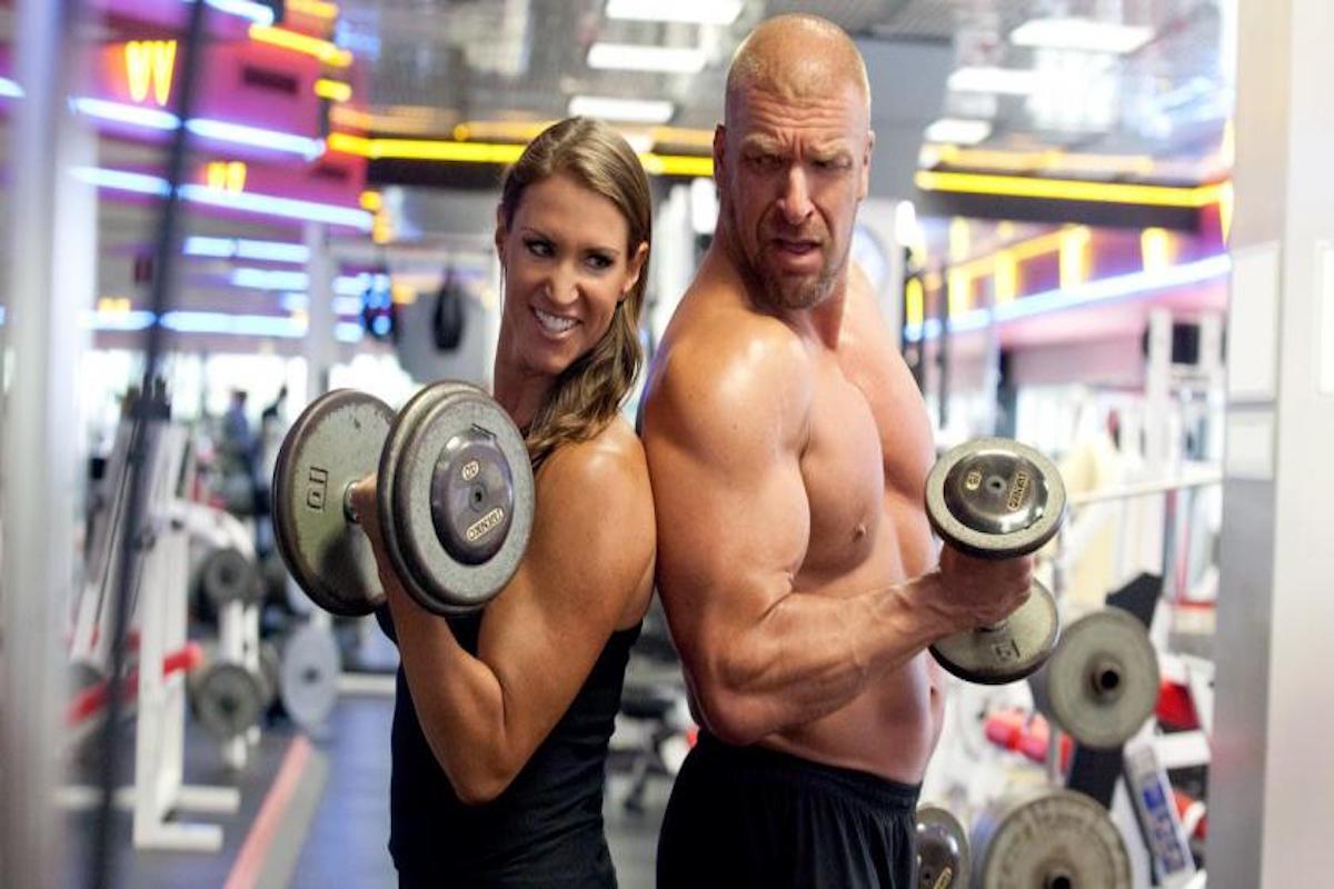 Paul Michael Levesque 'Triple H' (luchador) y Stephanie McMahon (luchadora). Foto: WWE