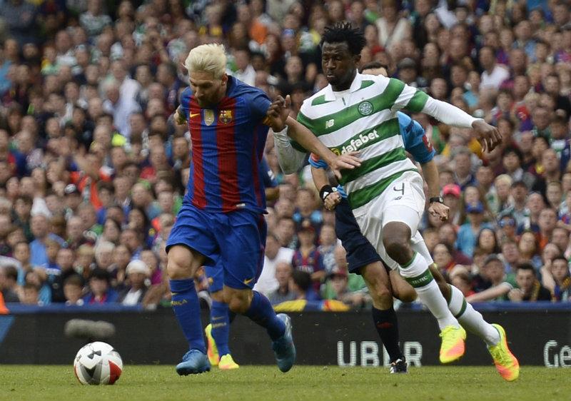 Messi contra Celtic, Foto: Reuters