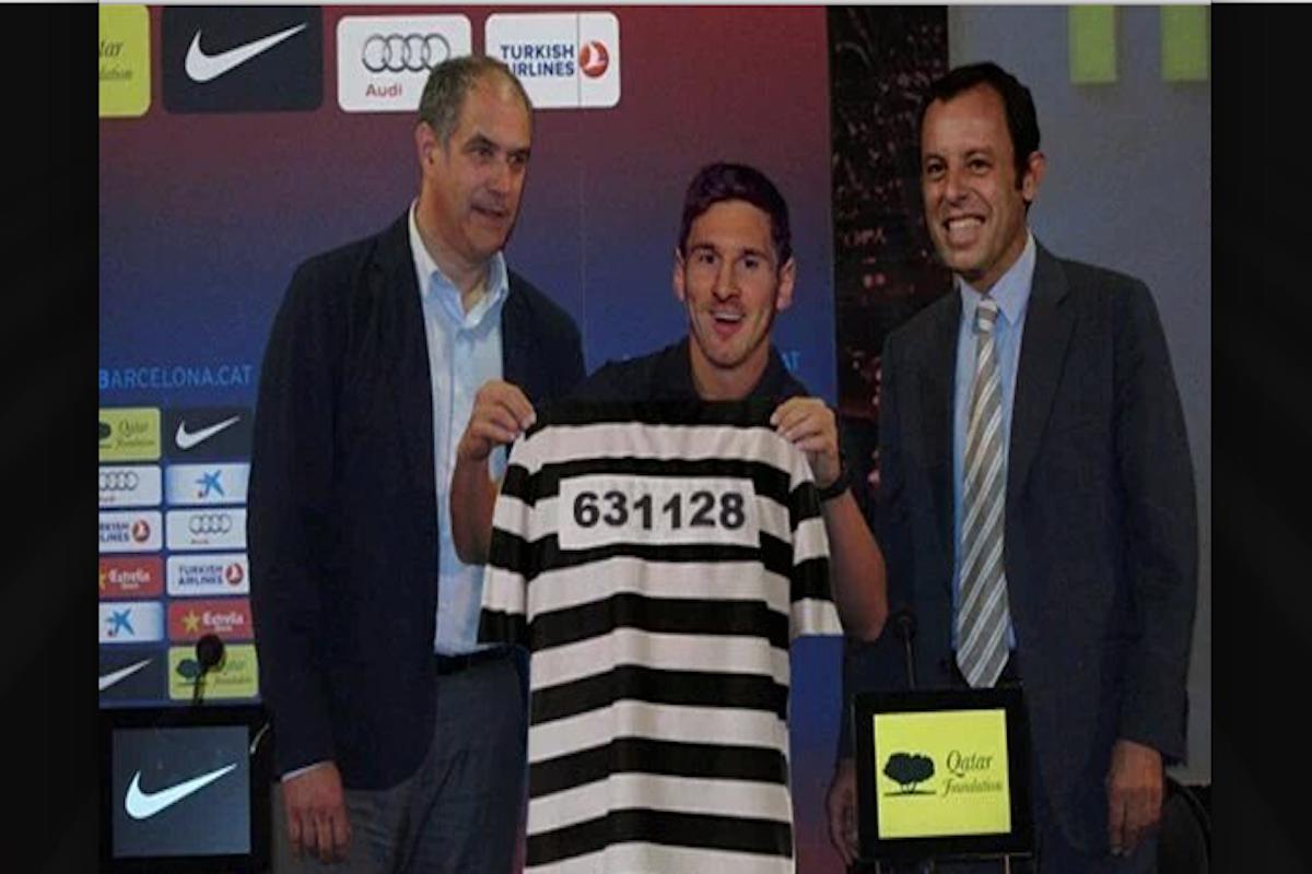 Condenan a Lionel Messi. Imagen: Especial