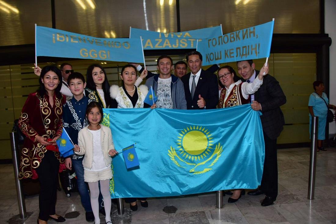GGG, a su llegada a la CDMX. Foto: Cortesía