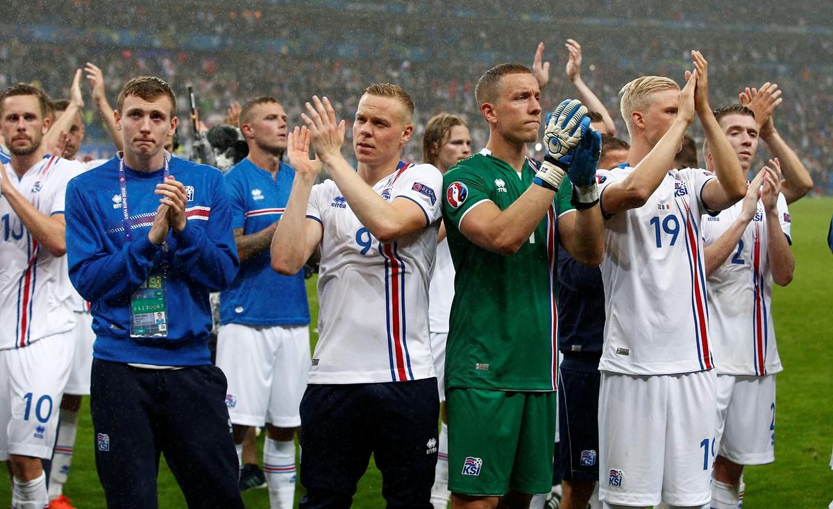 Selección de Islandia. Foto: AP