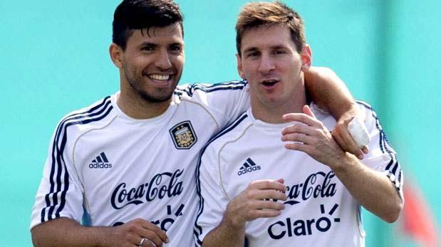 Messi y Agüero, Foto: Especial
