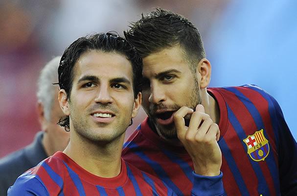 Cesc Fàbregas y Gerard Piqué, Foto: Especial