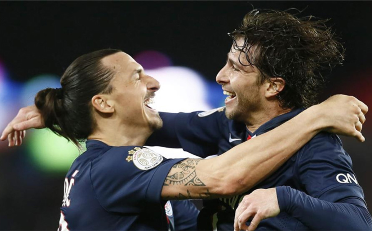Ibrahimovic y Maxwell, Foto: Especial
