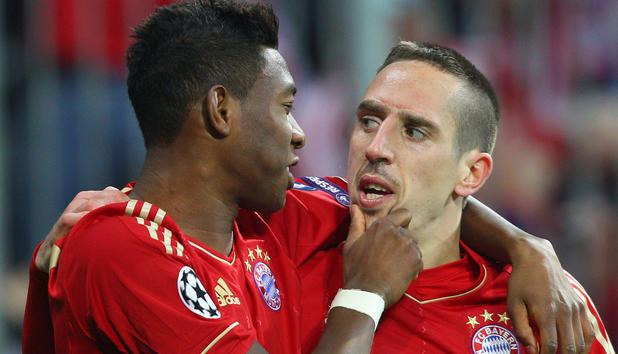 Franck Ribéry y David Alaba, Foto: Especial