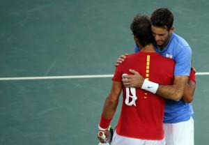 Nadal y Del Potro. Foto Reuters