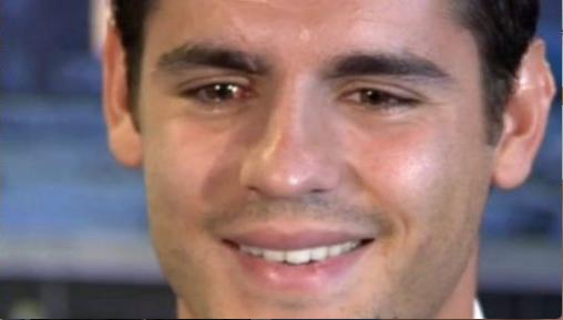 Morata llora en su regreso al Madrid. Foto: Especial