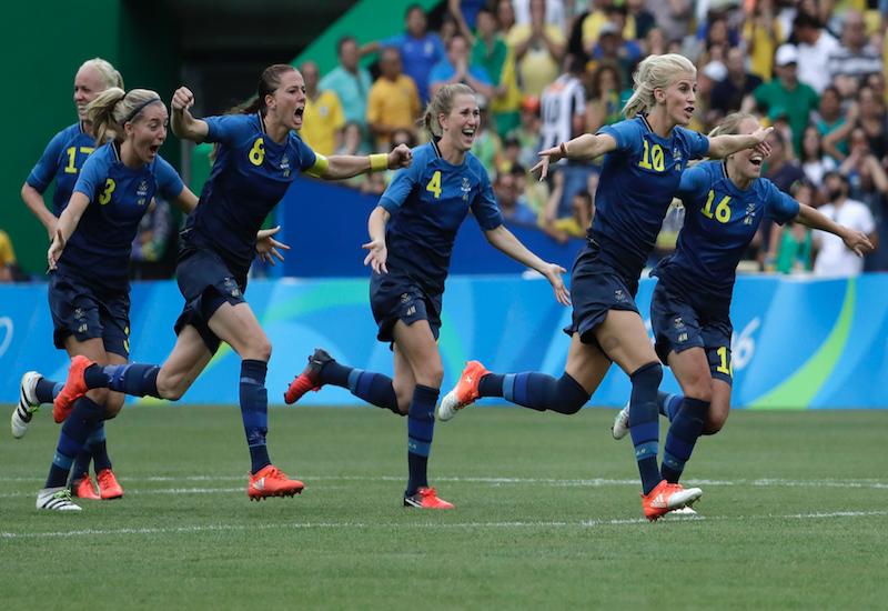 Suecia echó en panales al anfitrión. Foto: AP