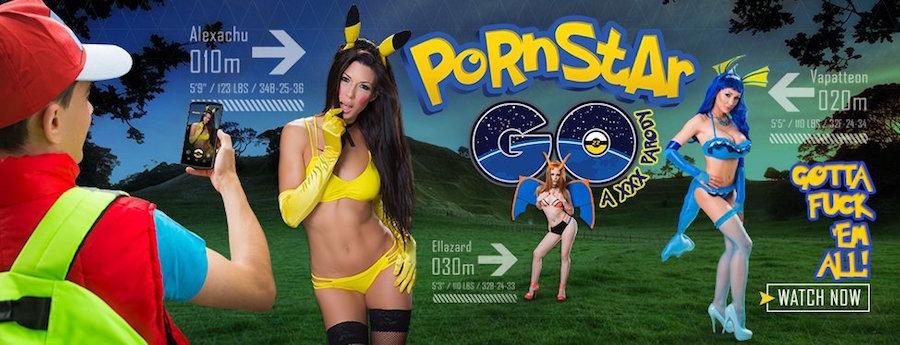 Brazzers preparó una parodia porno d ePokémon GO. Foto: Especial