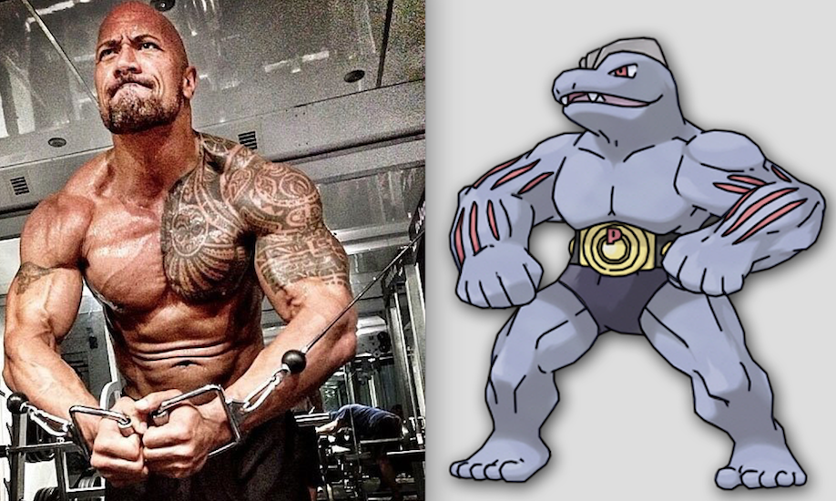 Dwayne Johnson y Machoke