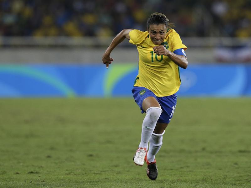 Marta, la figura del 'Scratch do Ouro' femenil. Foto. AP