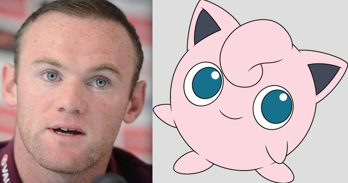 Wayne Rooney y Jigglypuff