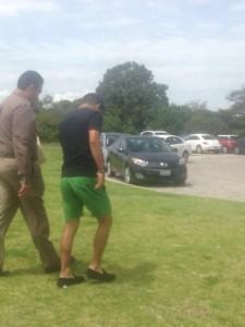 El Hobbit fue escoltad por policías. FOTO: ESPECIAL