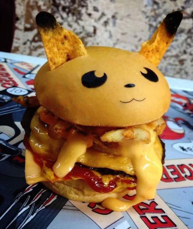 PokeHamburguesa de Pikachú. Foto: Hashtag Hamburguesas