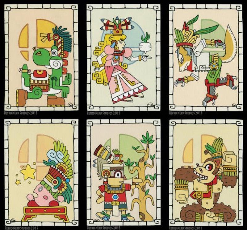 Imágenes de Nintendo 'mayas' de Sita Navas. Foto: Sita Navas