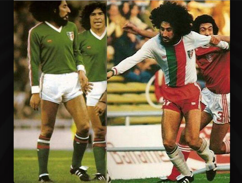 3) Mundial Argentina 1978. Pese a que fue una desastrosa Copa Mundial, la peor en la historia de México, el uniforme, de Levi's, llamó la atención de todo mundo, sobre todo el de la franja bicolor.