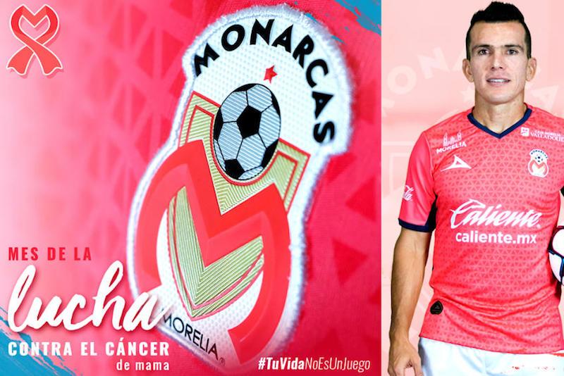 Uniforme rosa de Monarcas en la lucha contra el cáncer de mama. Foto: Especial