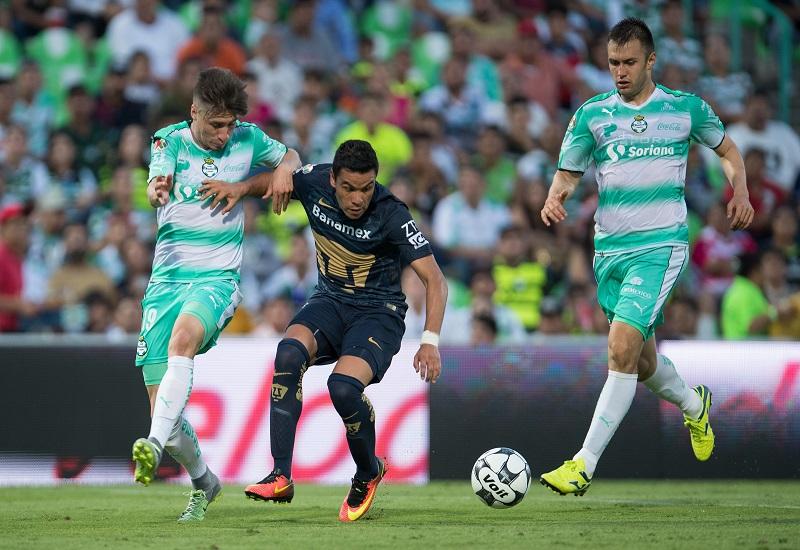 Santos vs Pumas. Foto: Mexsport