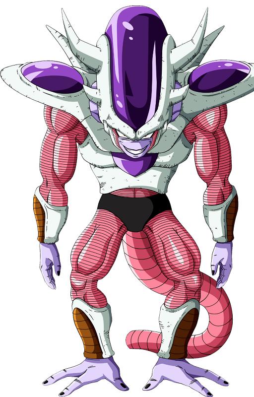 El emperador Freezer en su tercera transformación. Foto: Especial