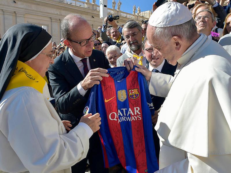 El Papa Francisco es blaugrana