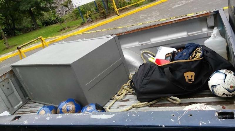 Intento de asalto en la cantera de los Pumas. Foto: Especial