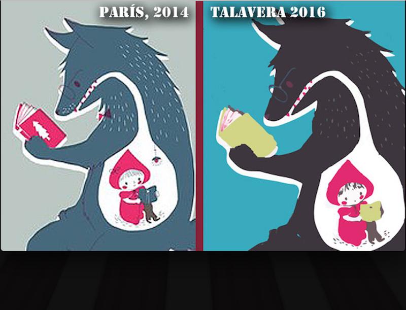 Carteles de las Ferias del Libro y de Paris y Talavera. Son el mismo diseño. Foto: Especial