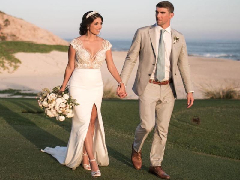 Michael Phelps celebra su boda en playa de México