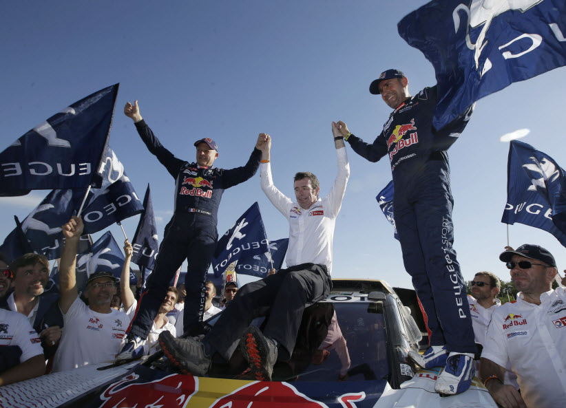 Stephane Peterhansel, ganador del Rally Dakar. Foto: AP