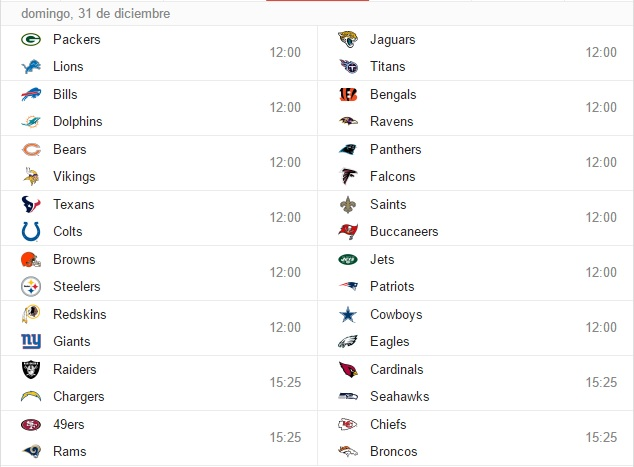 Fechas a recordar del próximo calendario de NFL - Estadio Deportes ... 2ca02e80369