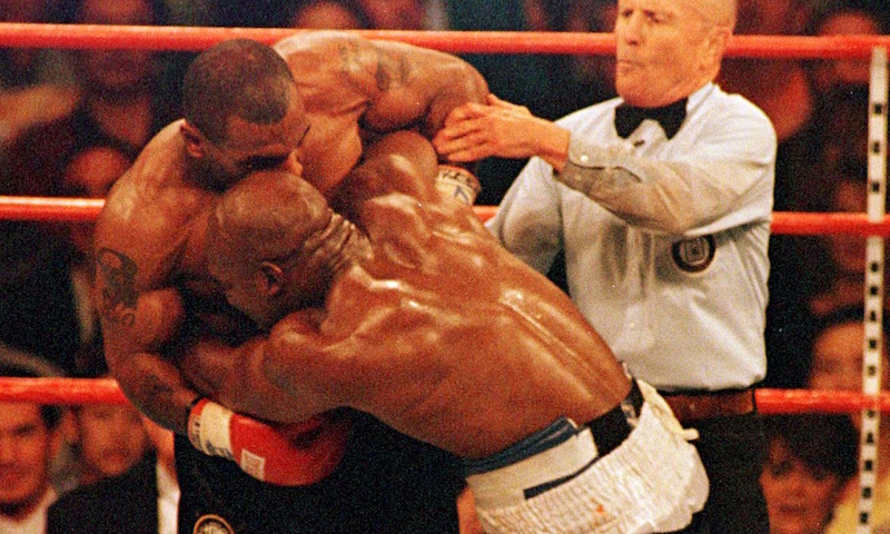 20 años de la mordida de Tyson a Holyfield