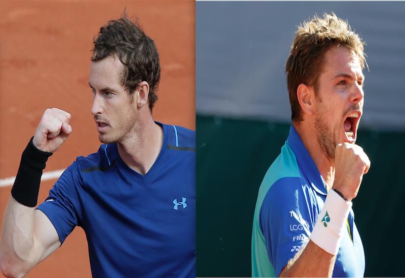 Murray y Wawrinka, a cuartos de Roland Garros
