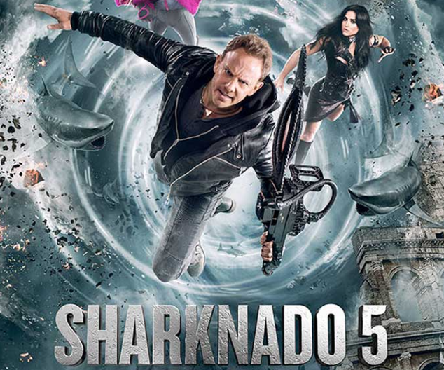 Publican poster de Sharknado 5 con Yanet García
