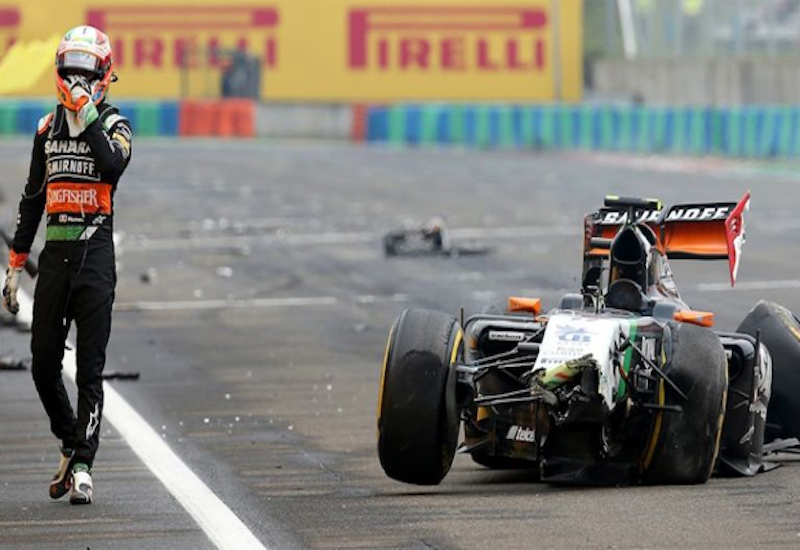 Accidentes de Checo Pérez