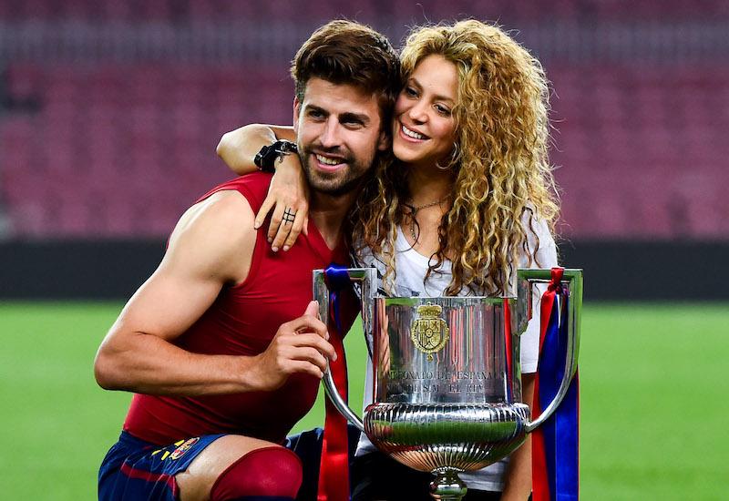 Pique y Shakira, presentes en la boda de Messi