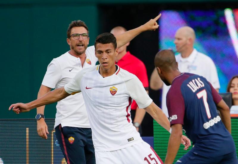Héctor Moreno debuta con la Roma