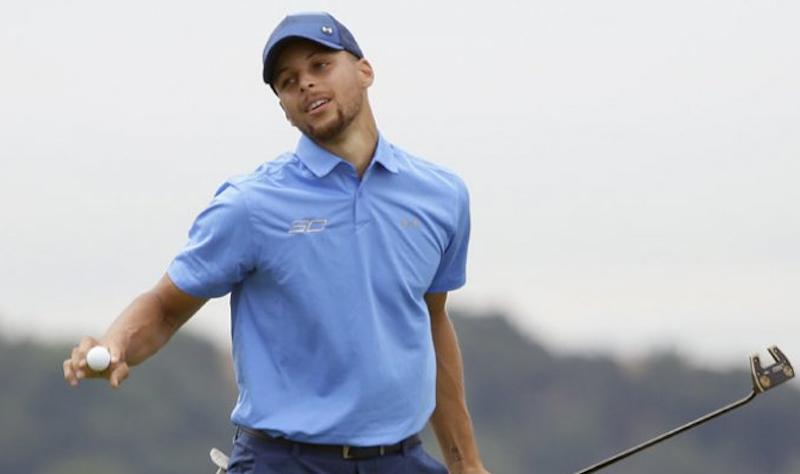 Curry la rompe como golfista